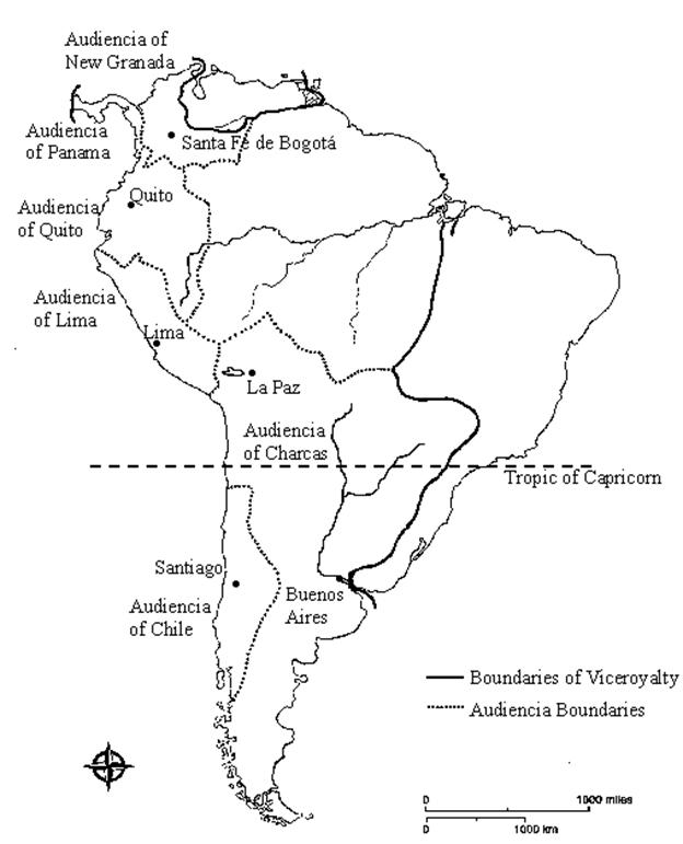 Map Quiz Study Guide: Colonial Latin America