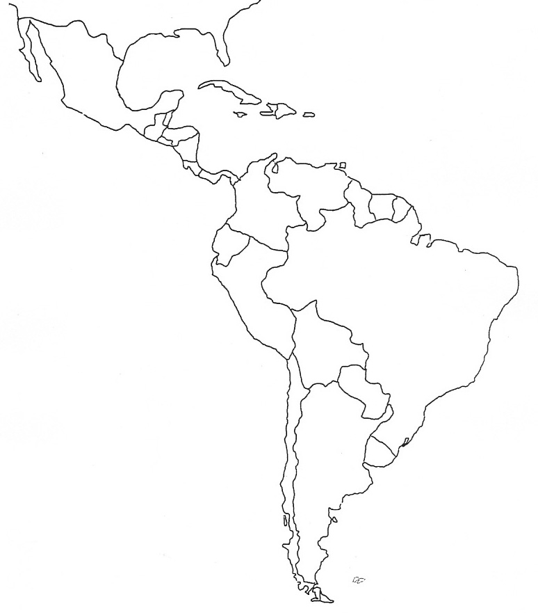 Blank Latin America Map America Map - Blank map of us quiz
