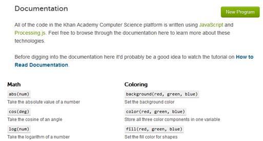 KhanAcademy JavaScript Course Materials